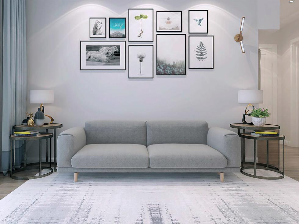 【福络诗家具】亲肤舒适超柔面料 坚韧桉木框架 北欧三人沙发