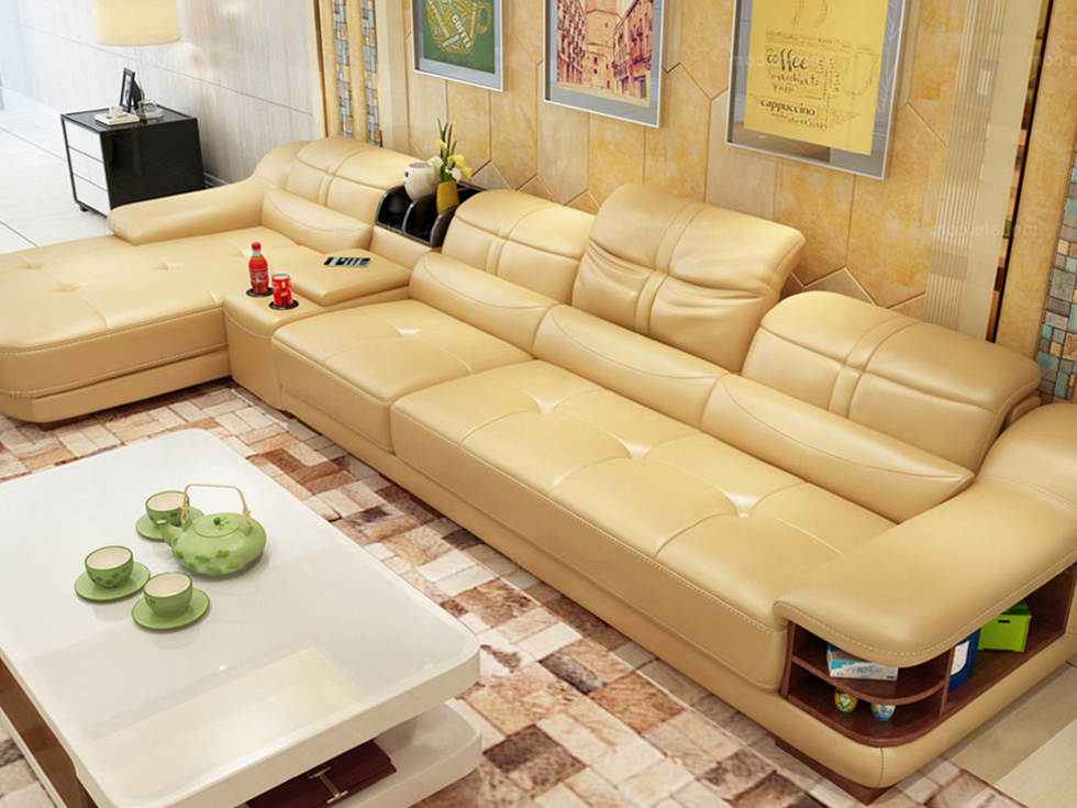 恩嘉依 现代风格 L型转角沙发 时尚简约右转角沙发