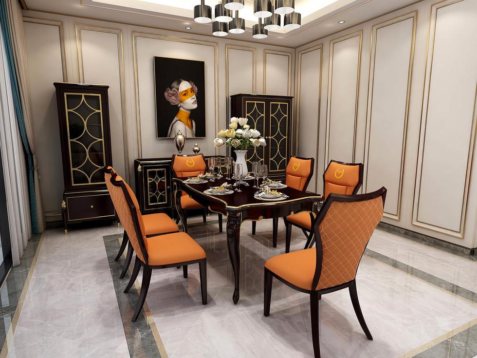 【玛蒂梦】1.6米轻奢长餐桌 适合多种风格搭配 款式新颖大方