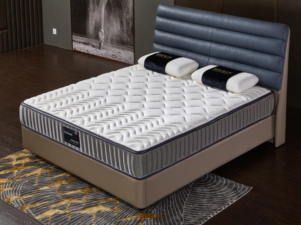 【雅蕾斯】九区独立袋装弹簧 高端天丝面料 静音无噪天然乳胶 面可拆  双人床垫