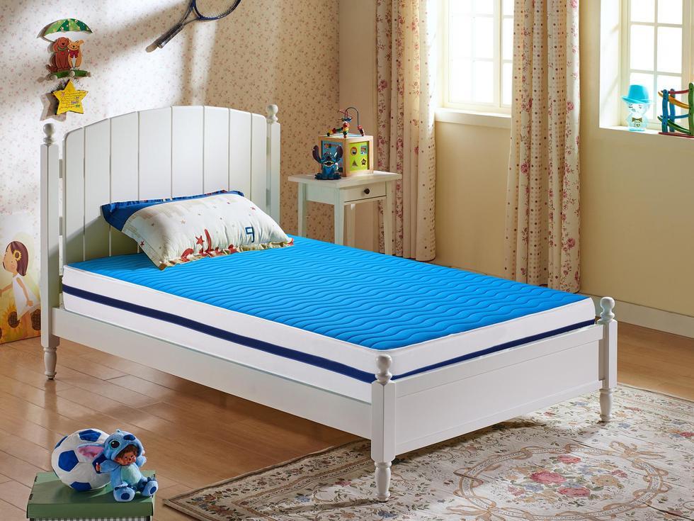 [伊诺亚•彩虹鱼] 【宝蓝精灵】3E环保棕天然针织面料面可拆洗儿童床垫 邦尼尔弹簧完美承托1.2*1.9