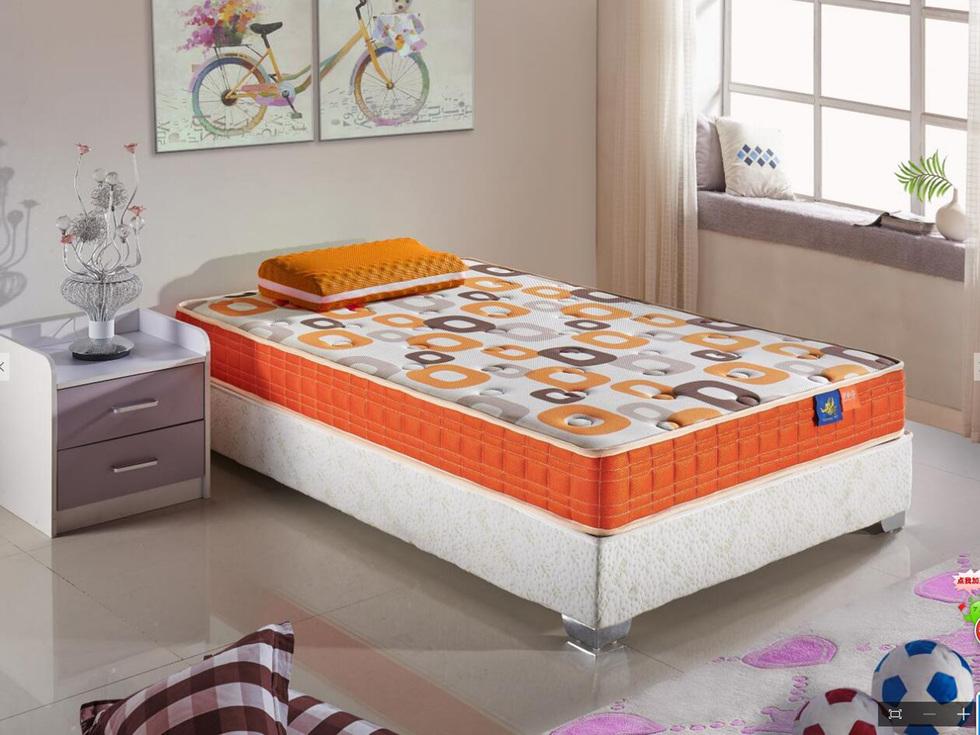 [伊诺亚·彩虹鱼] 动幻魔方 天然乳胶邦尼尔精钢弹簧护脊儿童床垫