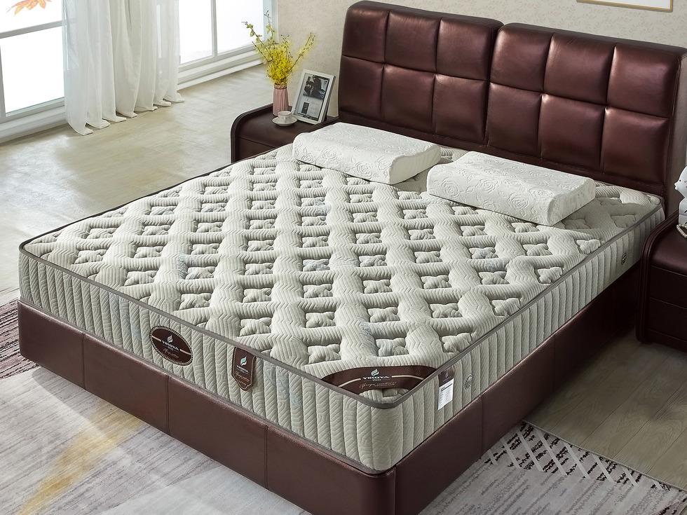 【伊诺亚·卡拉】竹碳面料护脊环保3E椰梦维弹簧正反双面可用床垫3D透气1.5*1.9米垫子