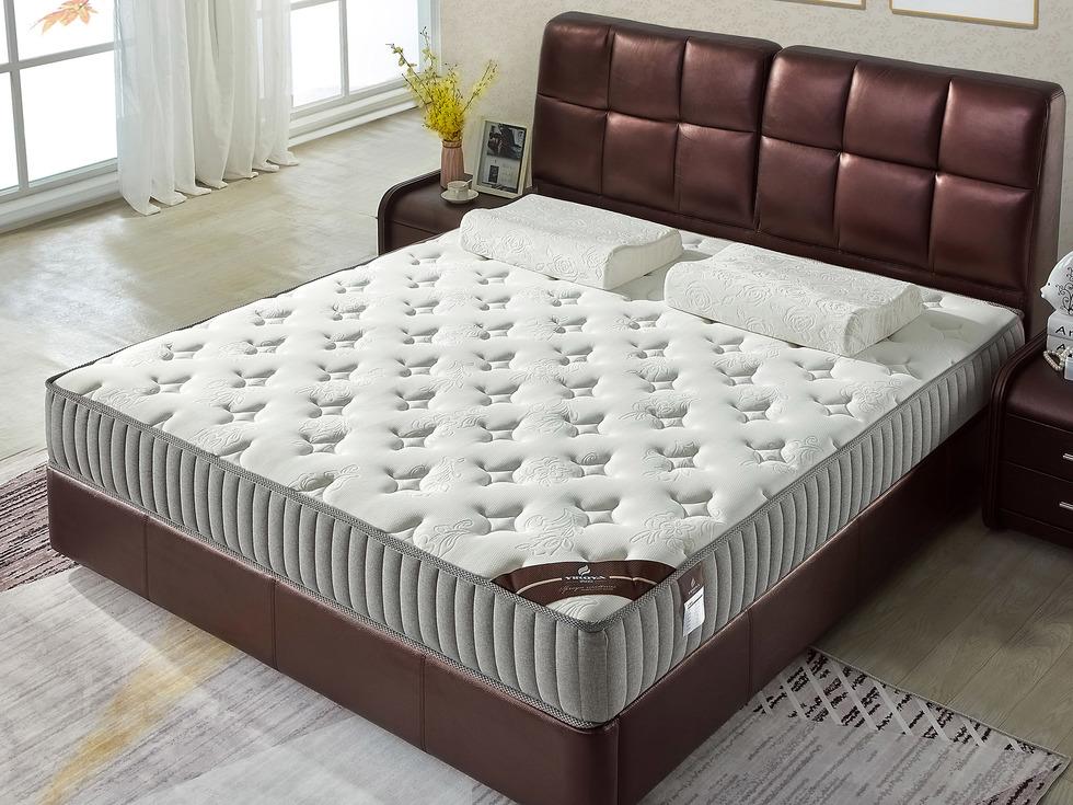 【伊诺亚·图兰朵】独立弹簧静音护脊双人床垫天然乳胶环保棕软硬双面可用1.5*1.9米垫子