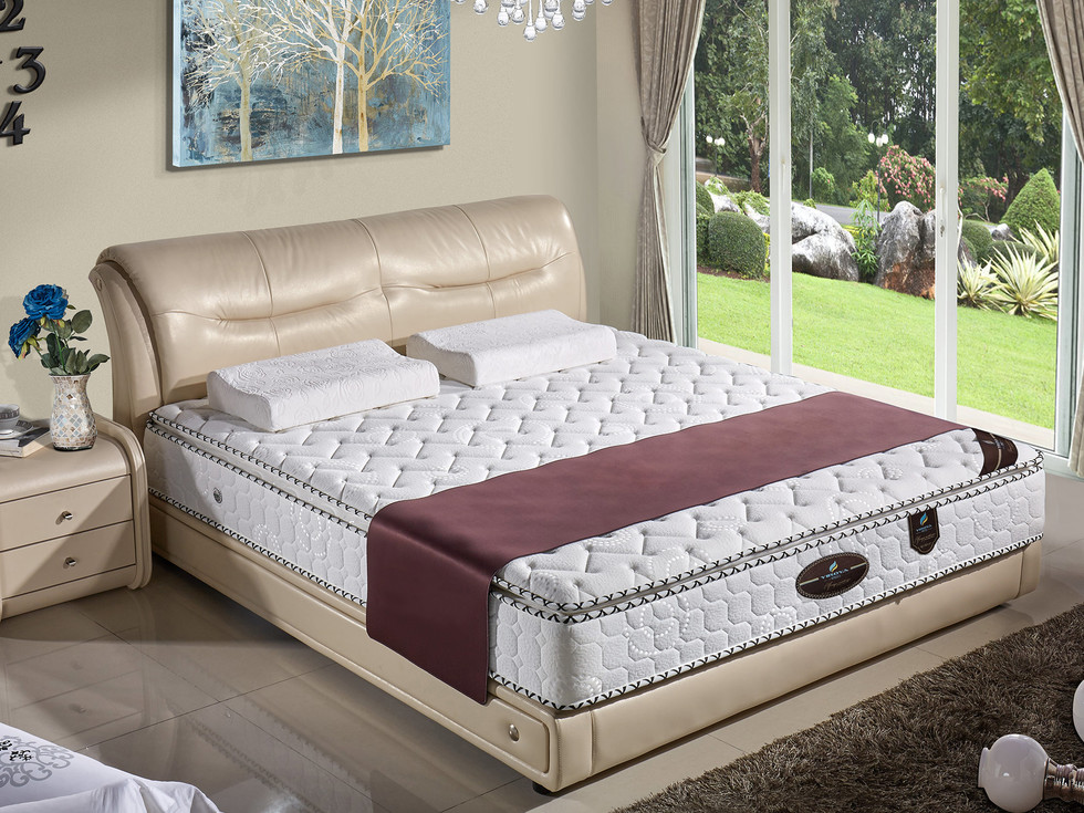 【伊诺亚·温莎】高档针织面料卧室双人弹簧床垫加厚护脊舒适深度睡眠1.2*2.0米垫子