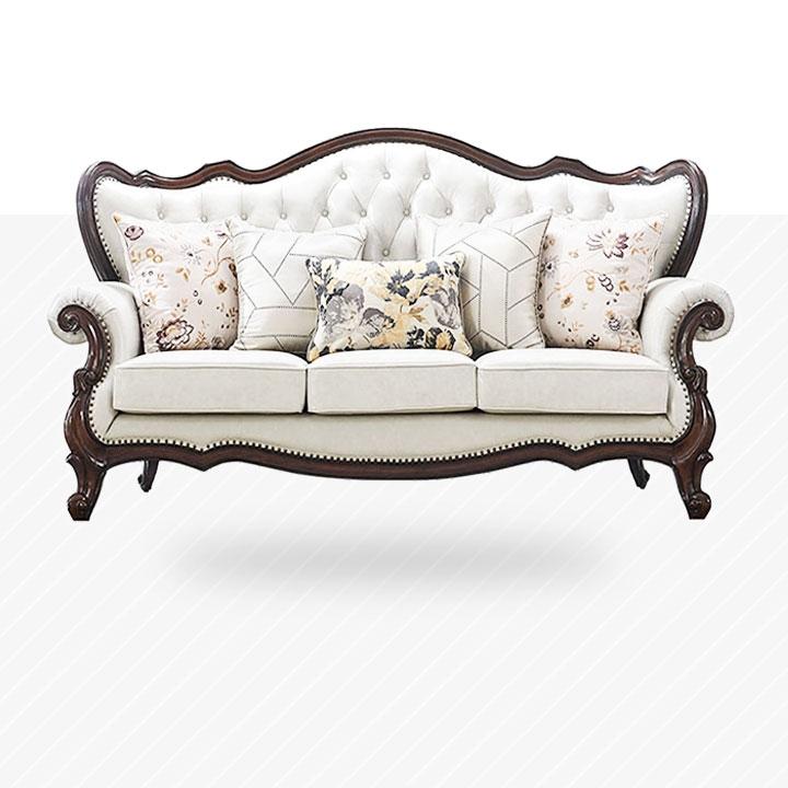 【邦美森】美式皮艺沙发 现代轻奢客厅123整装组合F4085