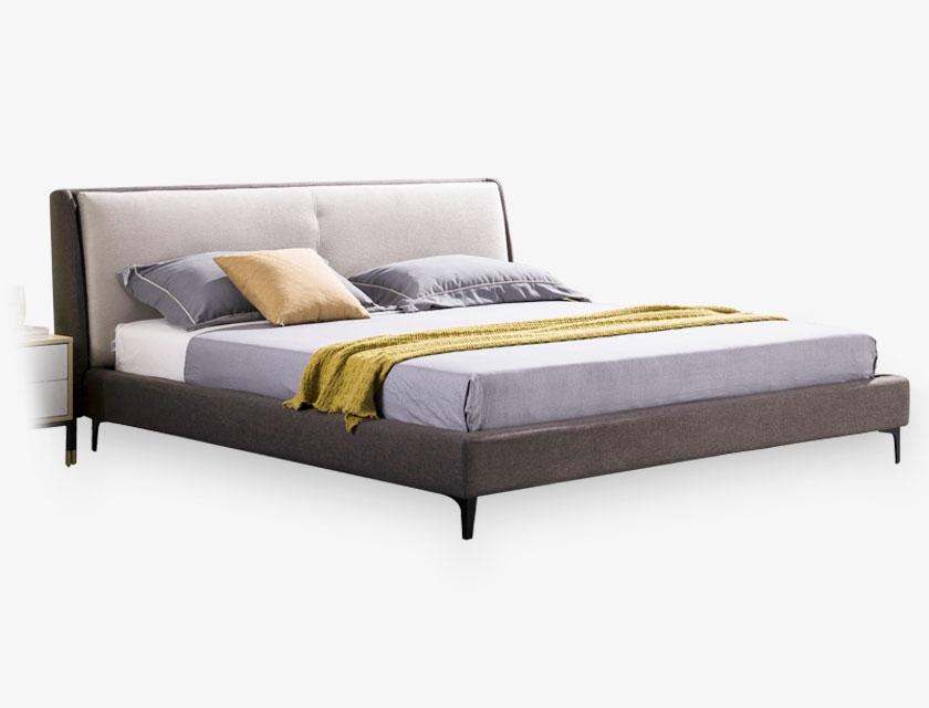 悦尚家 现代意式风格 1.8米双人床 布艺软包