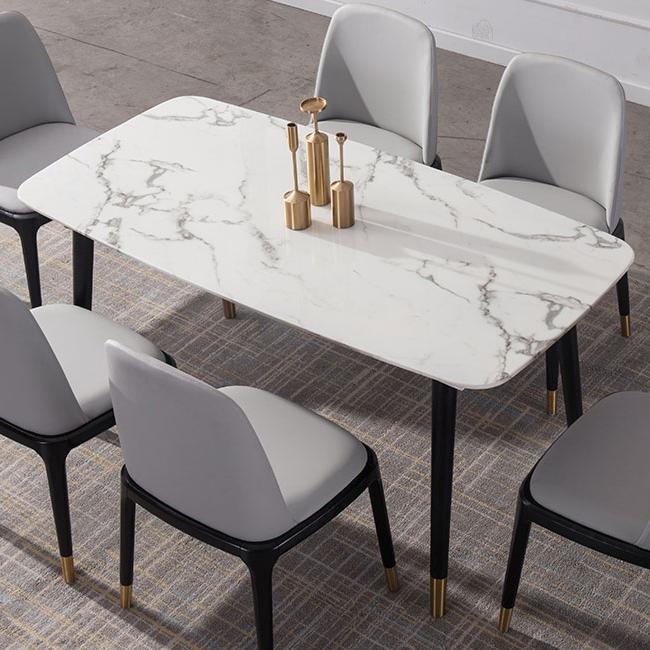 纳德威 现代轻奢 大理石餐桌 1.4米 小户型