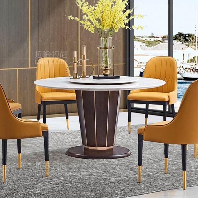 【拉帕拉尼】现代轻奢 餐台 不锈钢+爵士白天然大理石 L-CT012