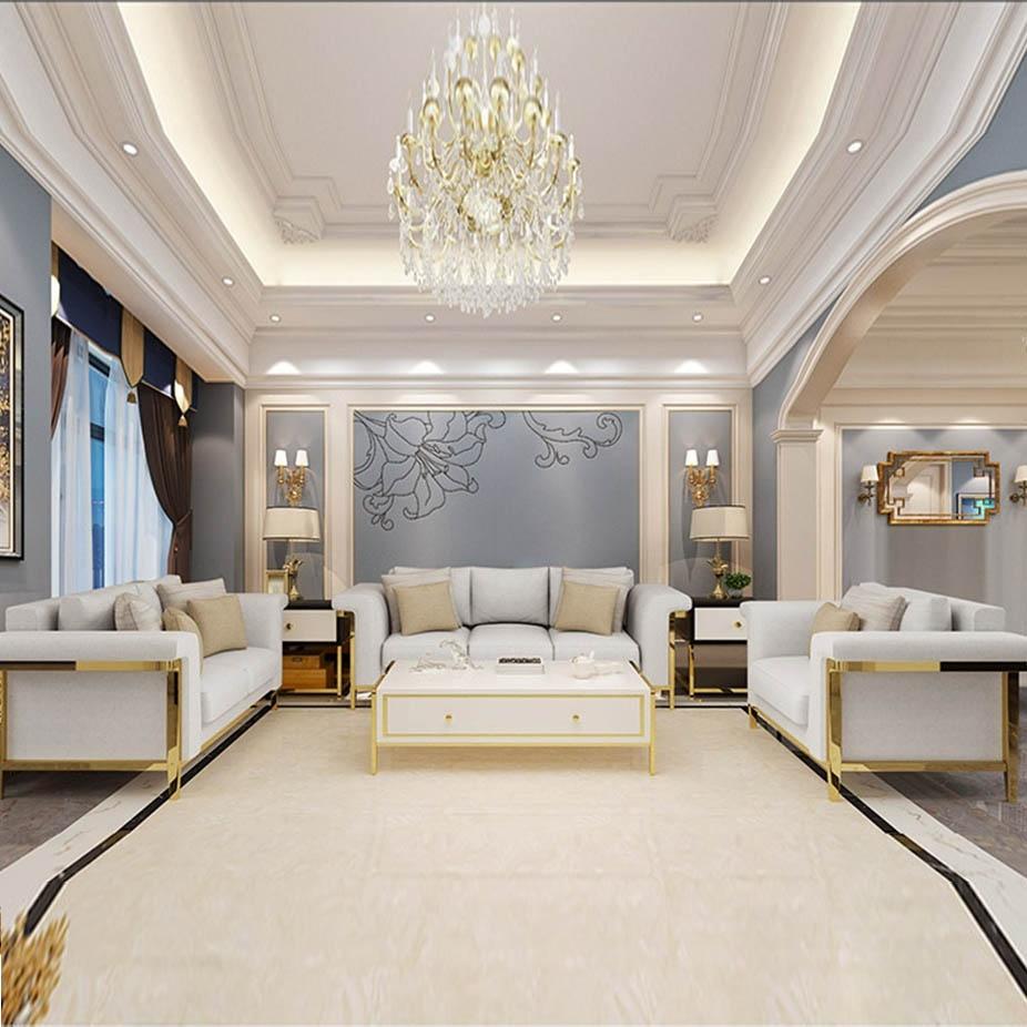 欧瑞家具 现代轻奢简约布艺单双三人位沙发组合整装 大户型客厅沙发1+2+3