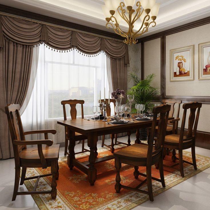 【丹饰林】北美进口红橡  华润环保油漆   高端大气 餐桌 美式做旧工艺 餐桌