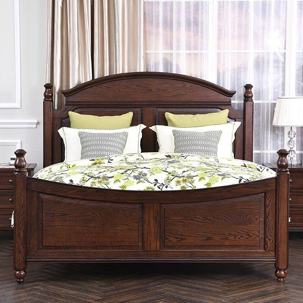 丹饰林 北美进口红橡 结构坚固耐用 美式风格1.8米大床